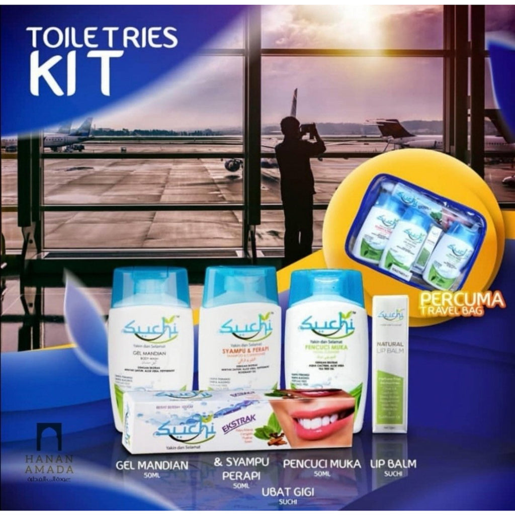 Suchi Toiletries Set (5pc mini Travel set)