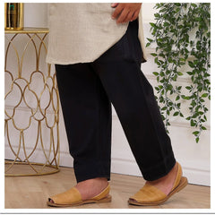 Tapered Ankle Pants- Denim Black