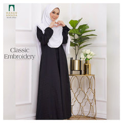 Classic Cotton Embroidery - Black