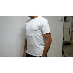 Zipped Pocket T- Shirt (Male) Off White
