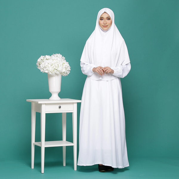 Zainab - White Jubah / Dress