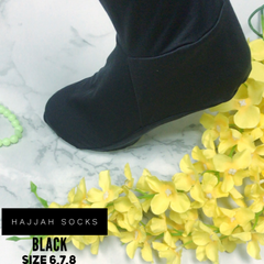 Hajjah Socks - Pure Black
