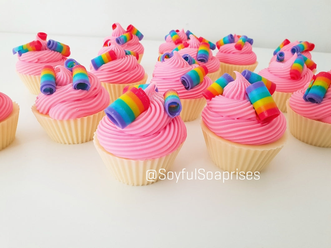 Rainbow Roll Cupcake Soap