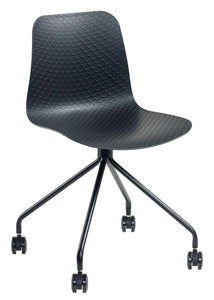 Polo Chair (Black Base with Castors)