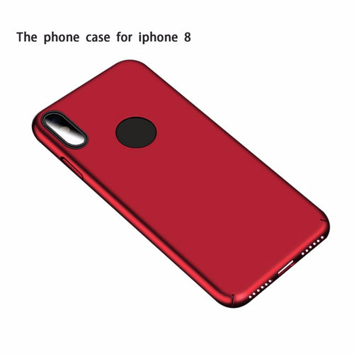 360 Degree Full Protective Ultra Thin Matte Phone Cover Case Full Wrapping Micro Fiber Phone Case For iPhone 8
