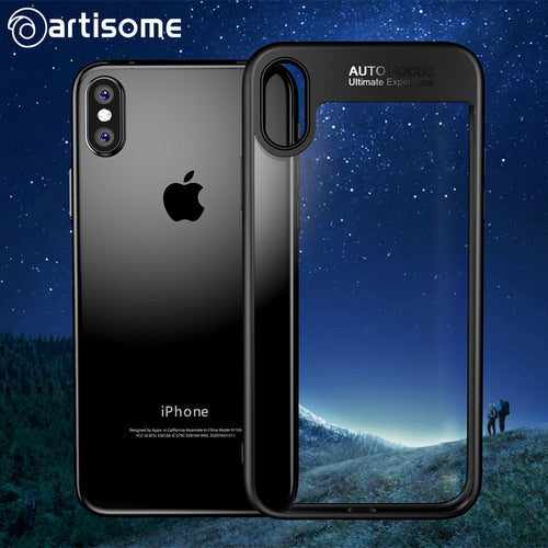 ARTISOME Full Cover Protector Case For iPhone 8 Fashion Ultra Slim TPU & PC Transparent Hard Back Cover For iPhone 8 Phone Case