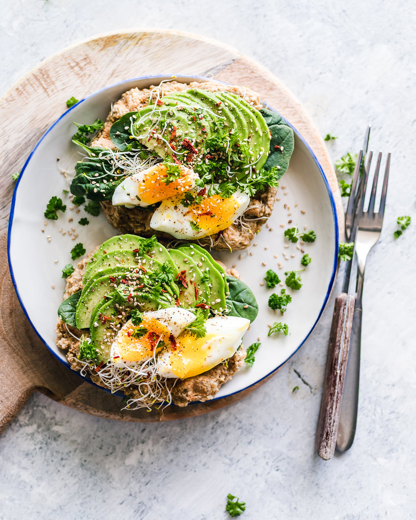 Easy Oat Waffles With Egg and Avocado