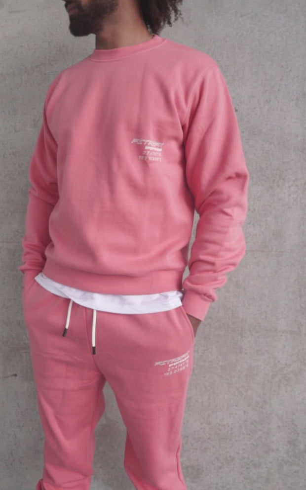 CO-ORDNTS Mens Track Pants Coral Pink