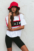 FitazFK White Street Tee | Activewear | Workout Apparel | Exercise Clothing