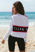 FitazFK White Street Jumper | Activewear | Workout Apparel | Exercise Clothing