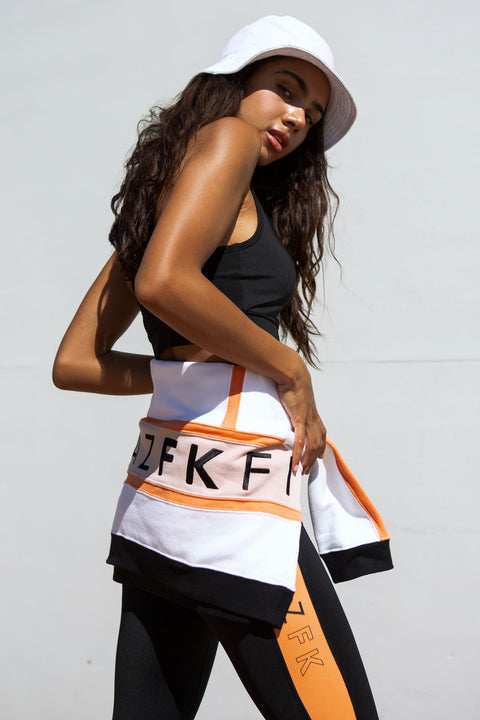 FitazFK White/Apricot/Pink Street Jumper
