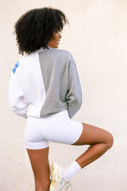 FitazFK Trackside Crew Jumper White/Grey
