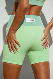 Sunset BLVD Green Bike Short