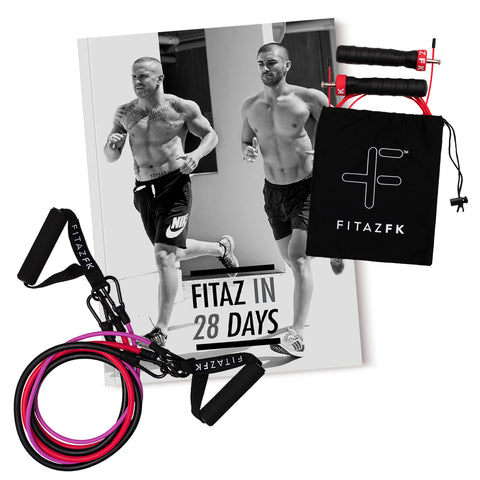 FitazFK Men's Bundle | Fitness Guide | Workouts & Nutrition Program | Mens 28 Day Challenge