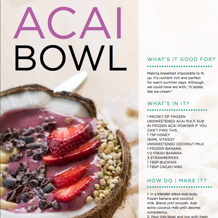 Acai Bowl | FitazFK Cookbook | What should I eat? | Fitness and Nutrition Guide | Recipes