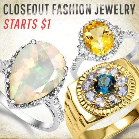 Closeout Fashion Jewelry Starts $1