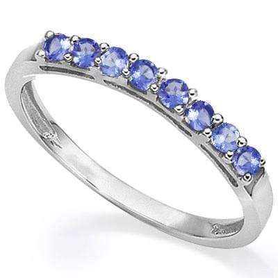 0.30 CT GENUINE TANZANITE  PLATINUM OVER 0.925 STERLING SILVER RING wholesalekings wholesale silver jewelry