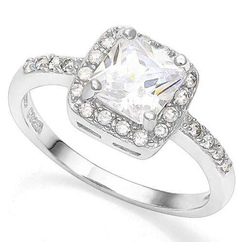 0.80 CT CREATED WHITE SAPPHIRE 925 STERLING SILVER RING - Wholesalekings.com