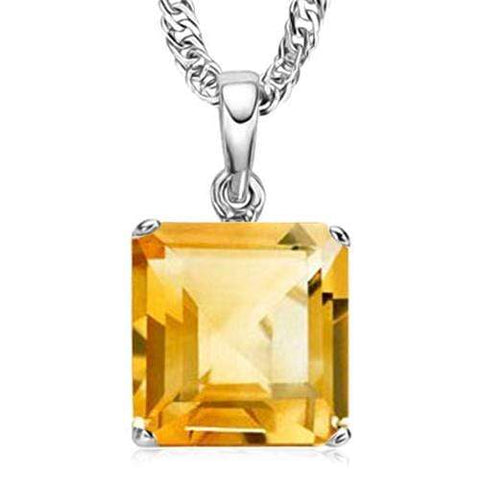 1.05 CT CITRINE 10KT SOLID GOLD PENDANT - Wholesalekings.com