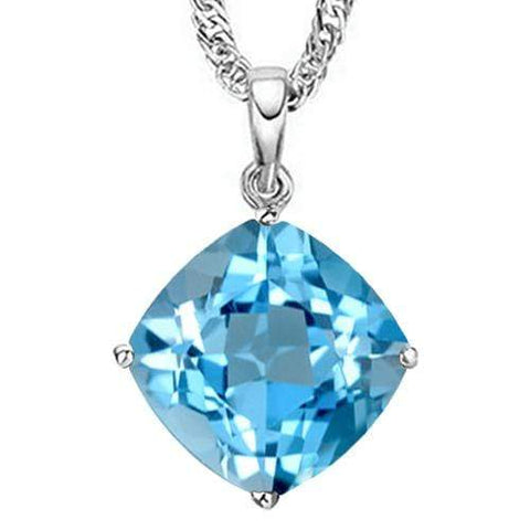 1.07 CT BABY SWISS BLUE TOPAZ 10KT SOLID GOLD PENDANT - Wholesalekings.com