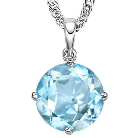 1/2 CT BABY SWISS BLUE TOPAZ 10KT SOLID GOLD PENDANT - Wholesalekings.com