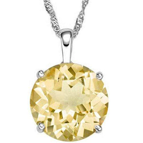 1/2 CT CITRINE 10KT SOLID GOLD PENDANT - Wholesalekings.com