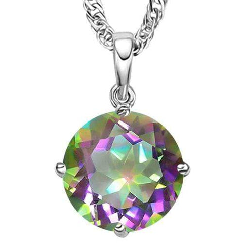 1/2 CT MYSTIC GEMSTONE 10KT SOLID GOLD PENDANT - Wholesalekings.com
