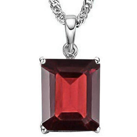 1.30 CT GARNET 10KT SOLID GOLD PENDANT - Wholesalekings.com