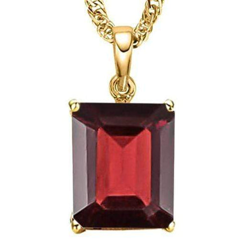 1.48 CT GARNET 10KT SOLID GOLD PENDANT - Wholesalekings.com