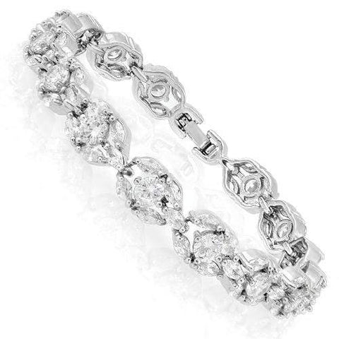 16 CARATS ( 75 PCS ) CREATED WHITE SAPPHIRE BRACELET ( Length: 7-7.5inches) wholesalekings wholesale silver jewelry