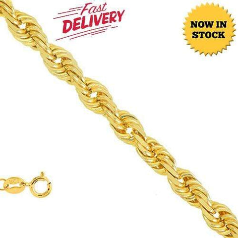 18 INCHES 0.5MM 14KT YELLOW SOLID GOLD ROPE NECKLACE wholesalekings wholesale silver jewelry
