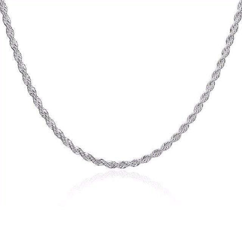 18 inches 3mm Italian Silver plated Necklace Chain - Wholesalekings.com
