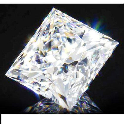 1ct Solitaire Princess Cut Diamond $439. Strong Fire Brillance. - Wholesalekings.com