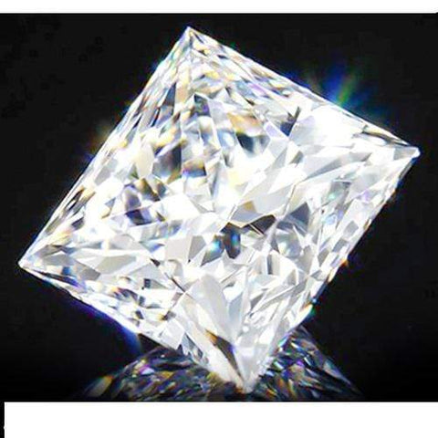 1ct Solitaire Princess Cut Diamond $439. Strong Fire Brillance. wholesalekings wholesale silver jewelry