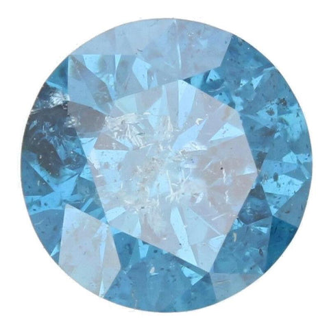 1ct Solitaire Round Blue Diamond $379. I1 Clarity