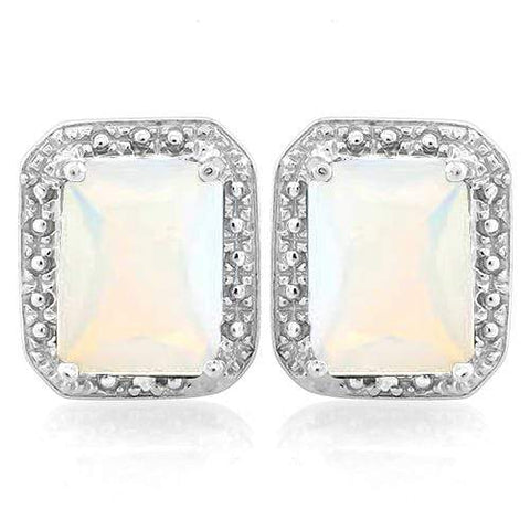 2 1/3 CARAT CREATED FIRE OPAL   925 STERLING SILVER EARRINGS - Wholesalekings.com