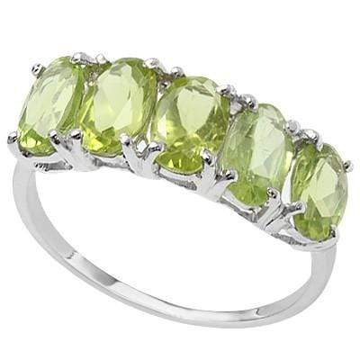 2.28 CT PERIDOT 0.925 STERLING PLATINUM OVER 0.925 STERLING SILVER RING wholesalekings wholesale silver jewelry