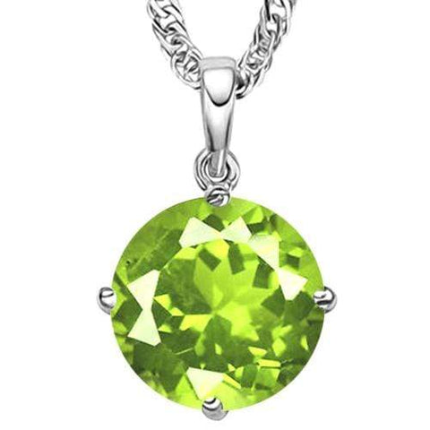 2/3 CT PERIDOT 10KT SOLID GOLD PENDANT - Wholesalekings.com
