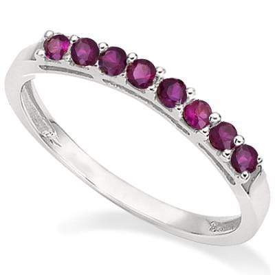 2/5 CT RUBY 925 STERLING SILVER BAND RING - Wholesalekings.com