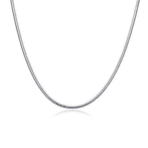 20 inches silver plated Italian Necklace Chain - Wholesalekings.com