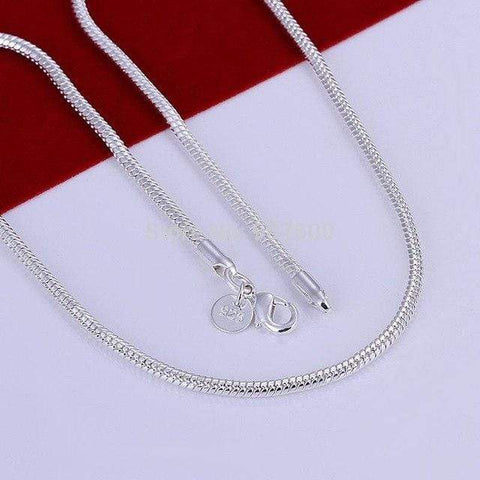 22 inches silver plated Italian Necklace Chain - Wholesalekings.com