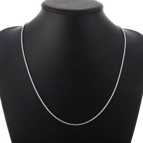 2mm 20 inches silver plated Italian Necklace Chain - Wholesalekings.com