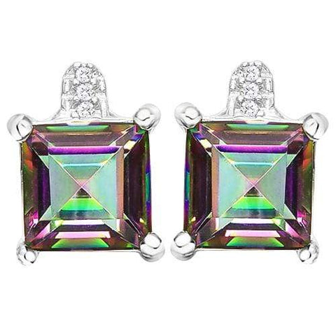 3 1/4 CARAT MYSTIC GEMSTONE   925 STERLING SILVER EARRINGS - Wholesalekings.com