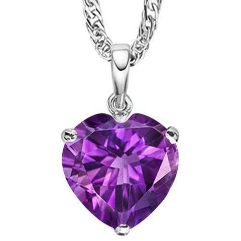 3/4 CT AMETHYST 10KT SOLID GOLD PENDANT - Wholesalekings.com