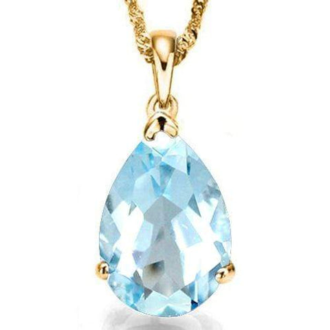 3/4 CT BABY SWISS BLUE TOPAZ 10KT SOLID GOLD PENDANT - Wholesalekings.com