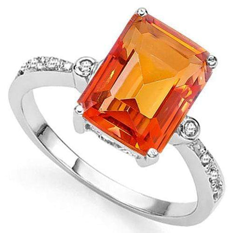 3 CT AZOTIC GEMSTONE & DIAMOND 925 STERLING SILVER RING wholesalekings wholesale silver jewelry