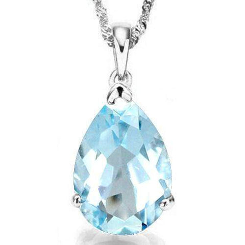 4/5 CT BABY SWISS BLUE TOPAZ 10KT SOLID GOLD PENDANT - Wholesalekings.com