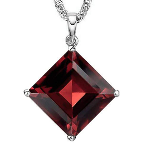 5.24 CT GARNET 10KT SOLID GOLD PENDANT - Wholesalekings.com