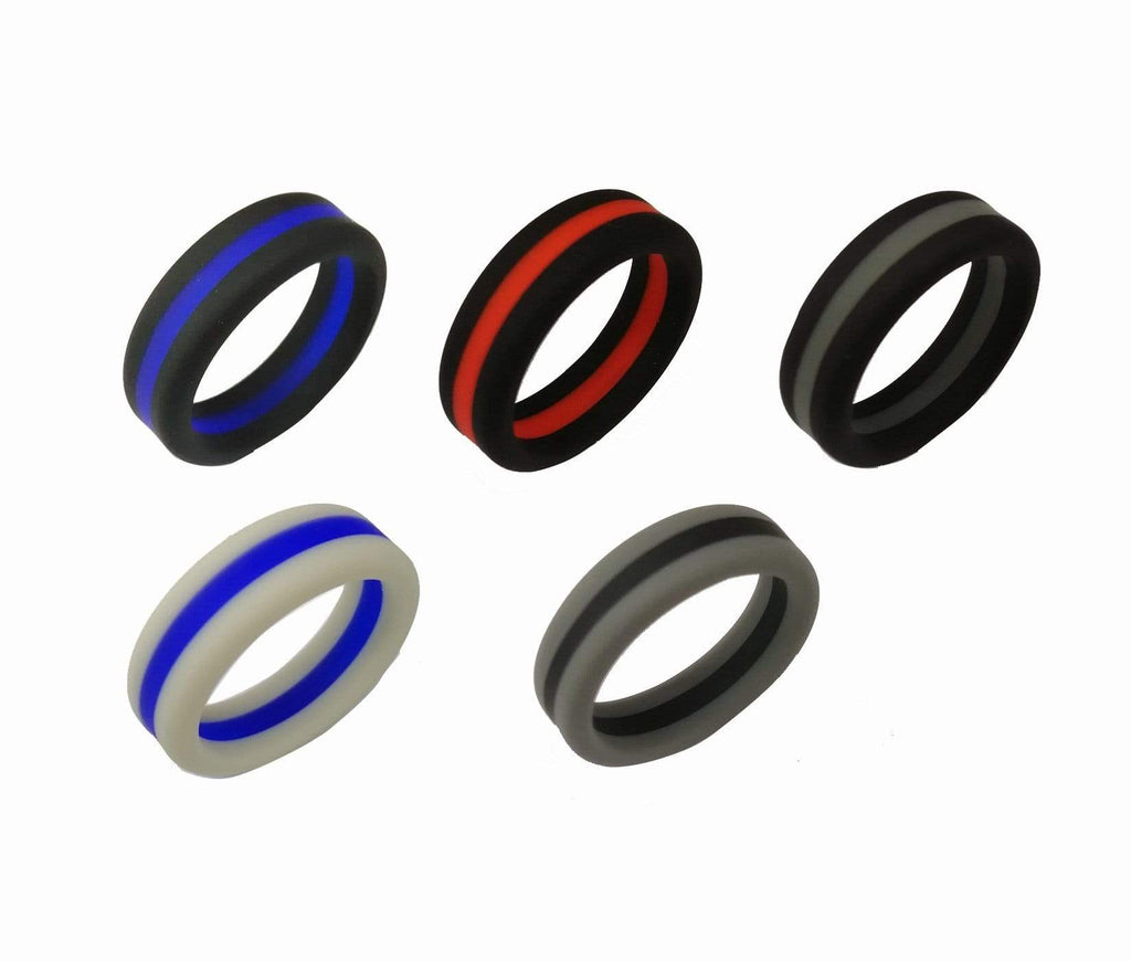 Rubber Wedding Bands.8mm Width Silicone Rings Men Singles Rubber Wedding Bands