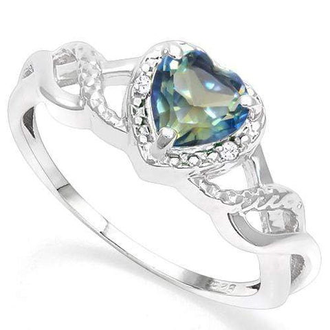 925 STERLING SILVER 0.77 CT VIOLET MYSTIC GEMSTONE & DIAMOND COCKTAIL RING wholesalekings wholesale silver jewelry